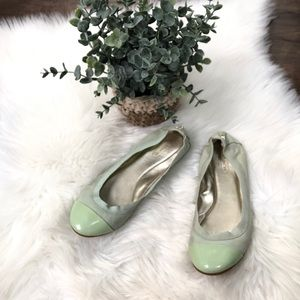Coach Mint Green Dalia Leather Flats